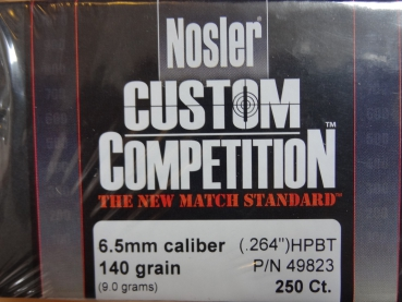 NOSLER CUSTOM COMPETITION 6,5mm/.264 140GR HPBT